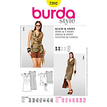 Buy Simplicity Burda Dresses Dress & Shirt Sewing Pattern, 7202 Online at johnlewis.com