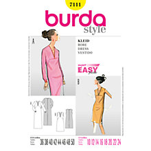 Buy Simplicity Burda V-Neck Dresses Sewing Pattern, B7111 Online at johnlewis.com