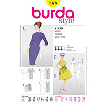 Buy Burda Women's Vintage Dress Sewing Pattern, 7178 Online at johnlewis.com