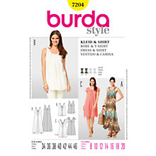 Buy Simplicity Burda Dresses Dress & Shirt Sewing Pattern, 7204 Online at johnlewis.com