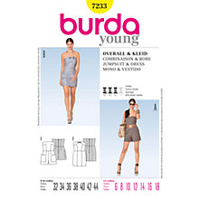 Buy Burda Women's Playsuit & Dress Sewing Pattern, 7233 Online at johnlewis.com