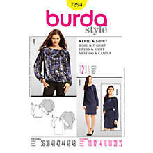 Buy Simplicity Burda Dresses Dress & Shirt Sewing Pattern, 7294 Online at johnlewis.com