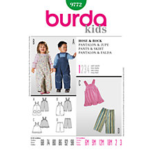 Buy Simplicity Burda Children's Pants and Skirt Sewing Pattern, B9772 Online at johnlewis.com