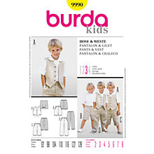 Buy Simplicity Burda Children's Pants and Vest Sewing Pattern, B9990 Online at johnlewis.com