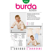 Buy Simplicity Burda Baby Jumpsuit and Sleeping Bag Sewing Pattern, B9782 Online at johnlewis.com