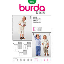 Buy Simplicity Burda Children's Pants Sewing Pattern,  B9793 Online at johnlewis.com