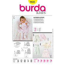 Buy Simplicity Burda Baby Coordinates Sewing Pattern, B9831 Online at johnlewis.com