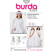 Buy Simplicity Burda Children's Formal Dress Sewing Pattern, 9761 Online at johnlewis.com