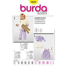 Buy Simplicity Burda Children's Coordinates Sewing Pattern, B9829 Online at johnlewis.com