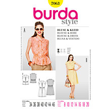 Buy Simplicity Burda Blouse & Dress Sewing Pattern, B7063 Online at johnlewis.com