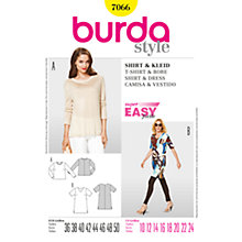 Buy Simplicity Burda T-Shirt & Dress Sewing Pattern, B7066 Online at johnlewis.com