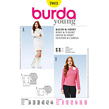 Buy Simplicity Burda Dress and Shirt Sewing Pattern, B7013 Online at johnlewis.com