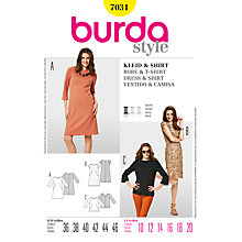 Buy Simplicity Burda Dress and Shirt Sewing Pattern, B7031 Online at johnlewis.com
