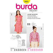Buy Simplicity Burda Jacket & Dress Sewing Pattern, B7071 Online at johnlewis.com