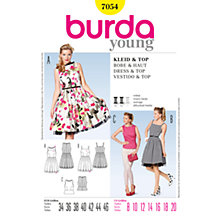 Buy Simplicity Burda Top & Dresses Sewing Pattern, B7054 Online at johnlewis.com