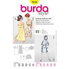 Buy Simplicity Burda Dress, Jacket & Cape Sewing Pattern, B7113 Online at johnlewis.com