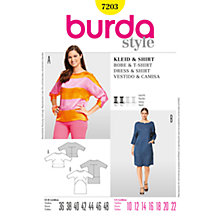 Buy Simplicity Burda Dresses Dress & Shirt Sewing Pattern, 7203 Online at johnlewis.com
