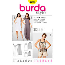 Buy Simplicity Burda Dresses Dress & Shirt Sewing Pattern, 7200 Online at johnlewis.com