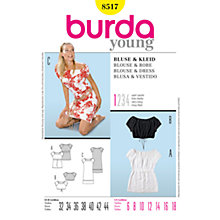 Buy Simplicity Burda Crop Blouse & Dresses Sewing Pattern, B8517 Online at johnlewis.com