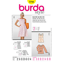Buy Simplicity Burda Summer Tops & Dress Sewing Patterns, B7798 Online at johnlewis.com