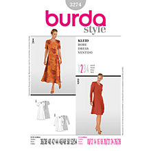 Buy Simplicity Burda Gored Dresses Sewing Pattern, B3274 Online at johnlewis.com