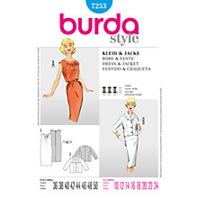 Buy Simplicity Burda 1950s Dress & Jacket Sewing Pattern, B7253 Online at johnlewis.com