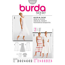 Buy Simplicity Burda Dresses Dress & Jacket Sewing Pattern, 8352 Online at johnlewis.com