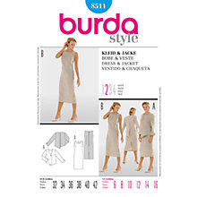 Buy Simplicity Burda Dresses Dress & Jacket Sewing Pattern, 8511 Online at johnlewis.com