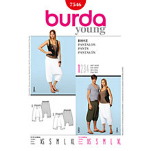 Buy Simplicity Burda Unisex Harem Trousers Sewing Pattern, B7546 Online at johnlewis.com