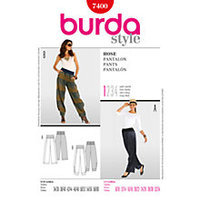 Buy Simplicity Burda Straight Leg Trousers Sewing Pattern, B7400 Online at johnlewis.com