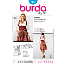 Buy Simplicity Burda Dirndl Dress Sewing Pattern, B7443 Online at johnlewis.com