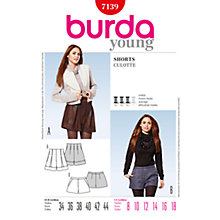 Buy Simplicity Burda Shorts Sewing Pattern, B7139 Online at johnlewis.com