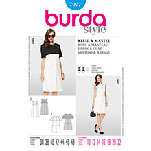 Buy Burda Women's Dress & Coat Sewing Pattern, 7077 Online at johnlewis.com