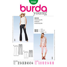 Buy Simplicity Burda Bootcut & Crop Trousers Sewing Pattern, B7050 Online at johnlewis.com