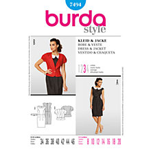 Buy Simplicity Burda Retro Dress & Jacket Sewing Pattern, B7494 Online at johnlewis.com