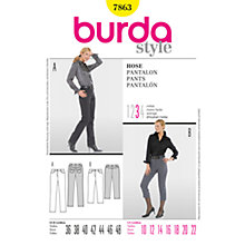 Buy Simplicity Burda Trousers Sewing Pattern, B7863 Online at johnlewis.com