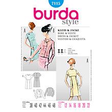 Buy Simplicity Burda Dress & Jacket Sewing Pattern, B7115 Online at johnlewis.com