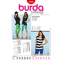 Buy Simplicity Burda Leggings Sewing Patterns, B7382 Online at johnlewis.com