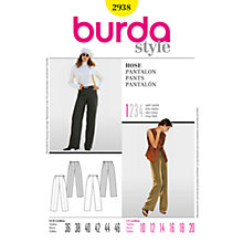 Buy Simplicity Burda Wide Leg Trousers Sewing Pattern, B2938 Online at johnlewis.com