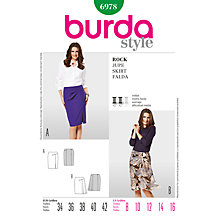 Buy Simplicity Burda Skirt Sewing Pattern, B6978 Online at johnlewis.com