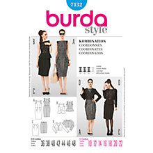 Buy Simplicity Burda Peplum Outfits Sewing Pattern, B7132 Online at johnlewis.com