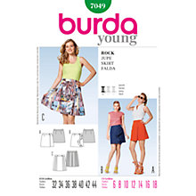 Buy Simplicity Burda Skirt & Trousers Skirt Sewing Pattern, 7049 Online at johnlewis.com