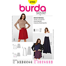 Buy Simplicity Burda Skirts and Trousers Sewing Pattern, B6980 Online at johnlewis.com