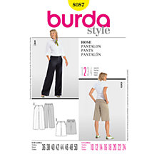 Buy Simplicity Burda Wide Trousers Sewing Pattern, B8087 Online at johnlewis.com