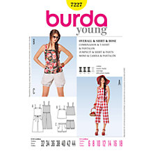 Buy Simplicity Burda Jumpsuit, Top & Shorts Sewing Pattern, B7227 Online at johnlewis.com