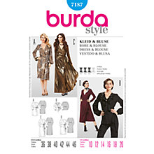 Buy Simplicity Burda Dress and Blouse Sewing Pattern, B7187 Online at johnlewis.com