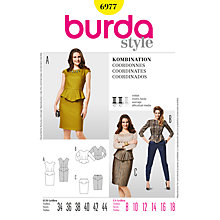 Buy Simplicity Burda Co-ordinates Sewing Pattern, B6977 Online at johnlewis.com