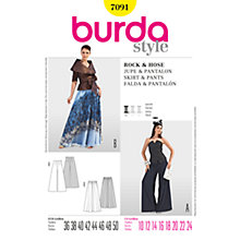 Buy Simplicity Burda Skirt & Trousers Sewing Pattern, 7091 Online at johnlewis.com