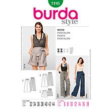 Buy Simplicity Burda Skirt & Trousers Sewing Pattern, 7195 Online at johnlewis.com