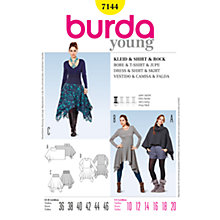 Buy Simplicity Burda Poncho & Dress Sewing Pattern, B7144 Online at johnlewis.com